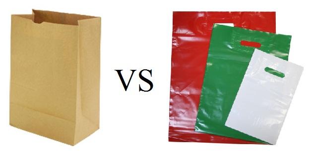 Отличие полиэтиленовых пакетов от бумажных