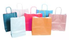 Цветные пакеты под нанесение логотипа