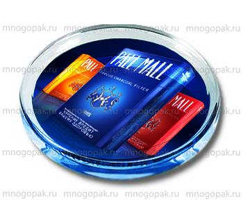 Пример стеклянных монетниц с логотипом