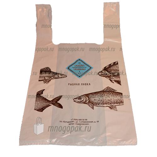 Пакет майка с логотипом Рыба рядом