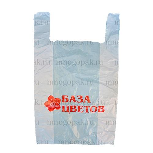 Пакет майка с логотипом База цветов