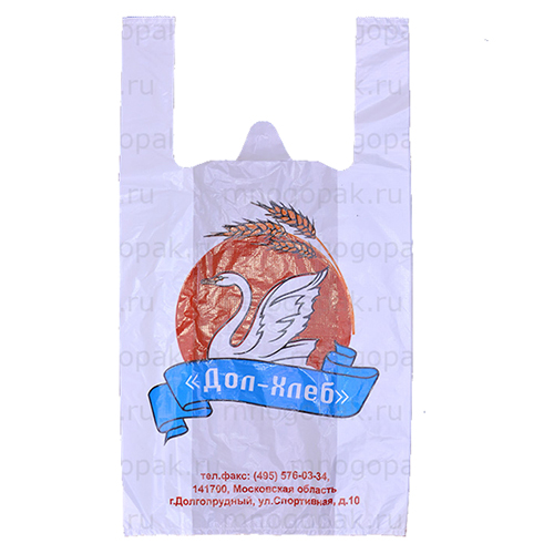 Пакет майка с логотипом Дол-хлеб