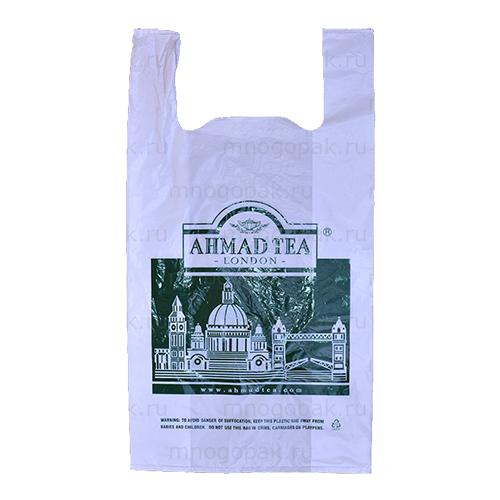 Пакет майка с логотипом Ahmad tea
