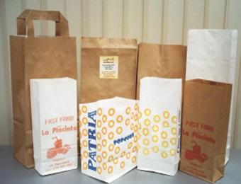 Пакеты из крафта на кухне
