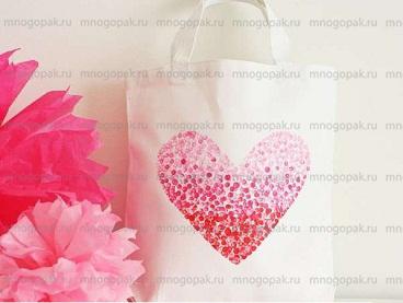 Производство  пакетов к Дню Святого Валентина