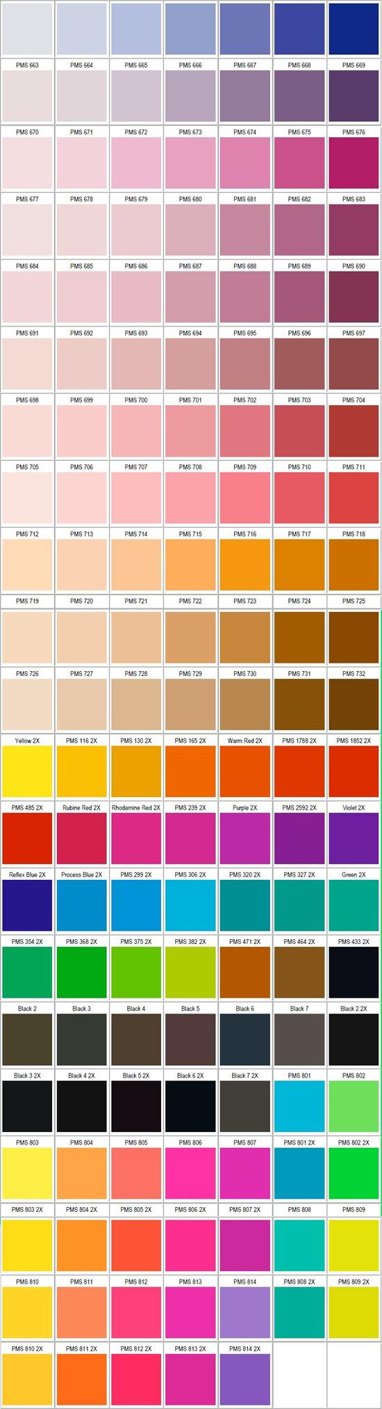 Цветовая палитра дизайна