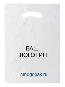 пластиковый пакет с логотипом флексопечатью