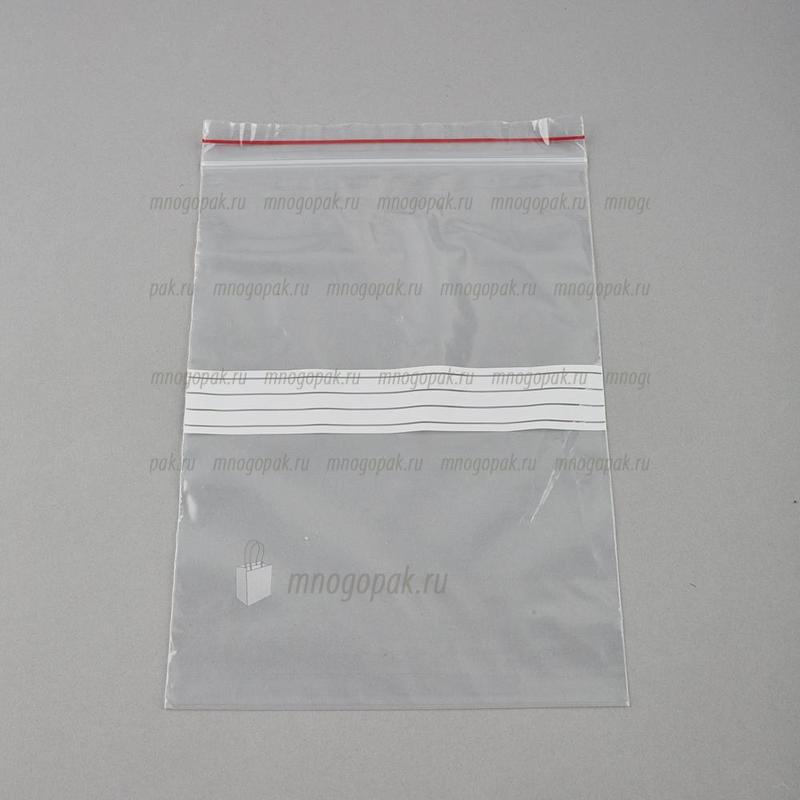 Пакеты Zip-Lock с полосой для надписей
