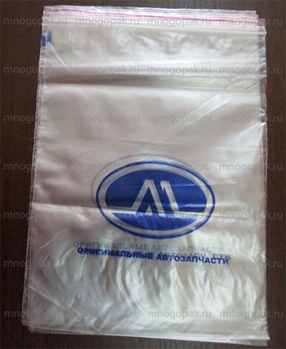 Пакеты Zip-Lock с логотипом